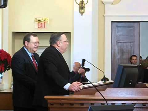 Maine Governor Paul LePage Swears In the Senate