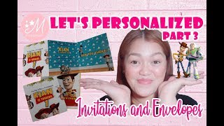 TRIFOLD INVITATION How to make an invitation (EASY) | It's Marian Vlog #26