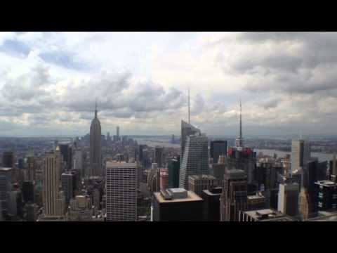 The views of Manhattan from Rockefeller Center.