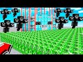1,000 MOBS vs WITHER PROTECTED BASE!