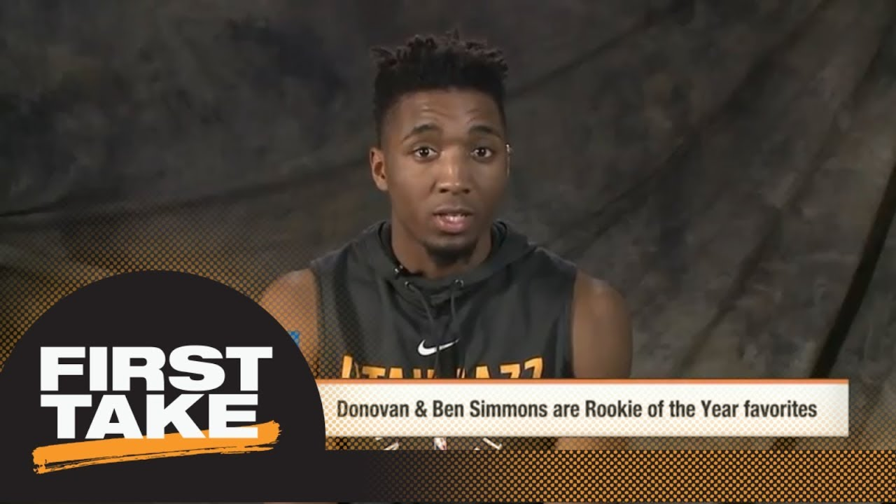 Donovan Mitchell explains why he should be Rookie of the Year over Ben Simmons | First Take | ESPN