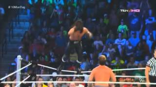 WWE SMACKDOWN 9/5/14 : 10 MAN TAG TEAM MATCH