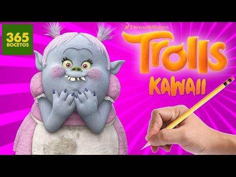 COMO DIBUJAR UN TROLL KAWAII PASO A PASO - Dibujos kawaii faciles - - How to draw a Troll