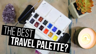 BEST TRAVEL PALETTE EVER? | PORTABLE PAINTER REVIEW & SPEEDPAINT!