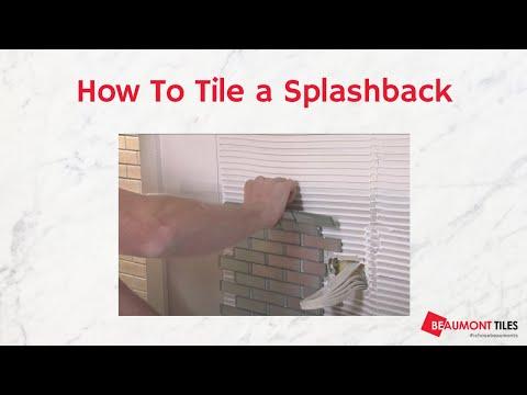 How to lay backsplash tile