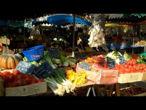 French markets. South of France, daily market in Aix en Provence.