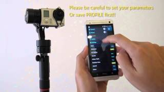 PILOTFLY FunnyGO BT 3axis gimbal stabilizer - demo for bluetooth function