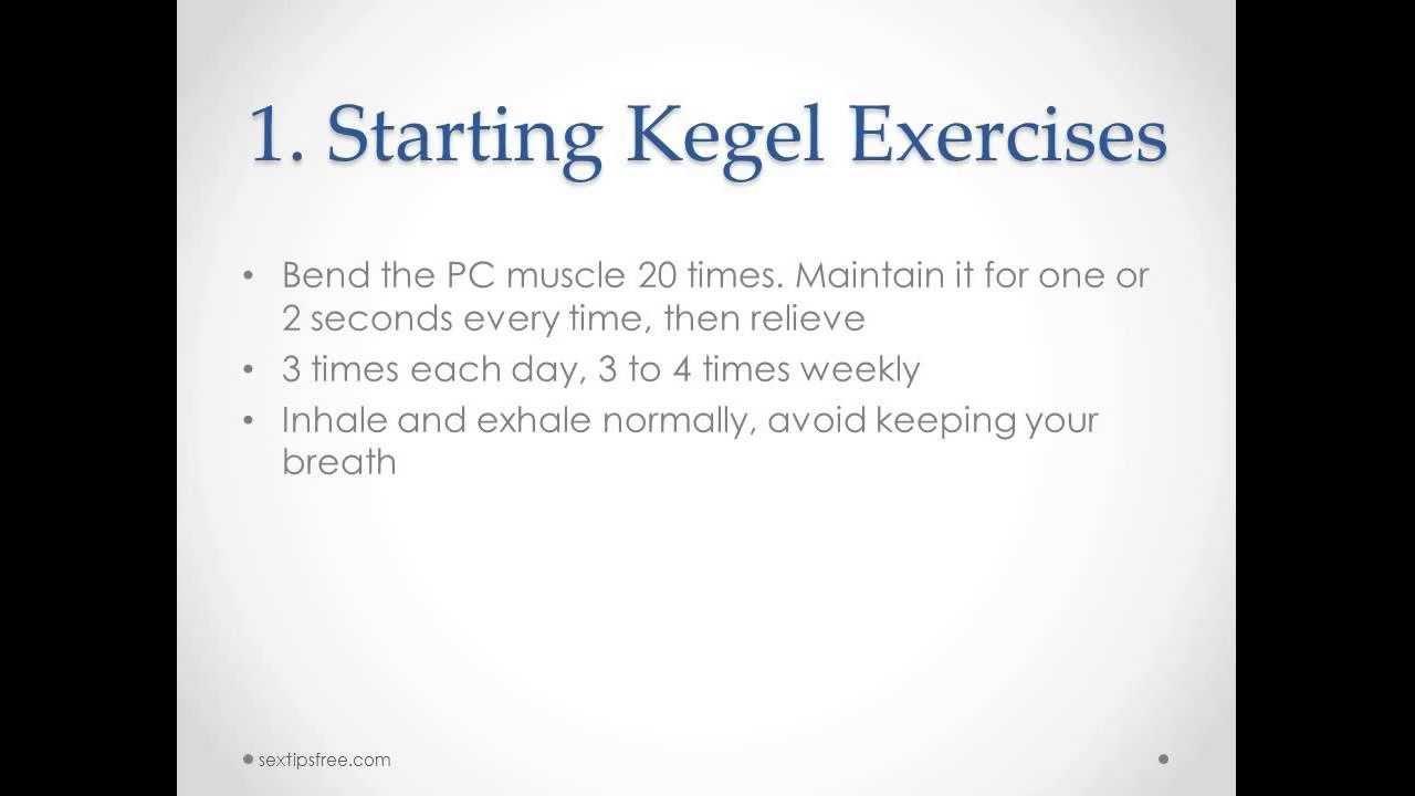 How to Do Kegel Exercises For Men - YouTube
