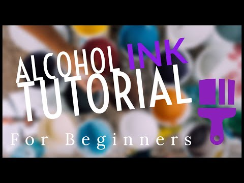 Alcohol Ink tutorial for beginners.  Making a coaster