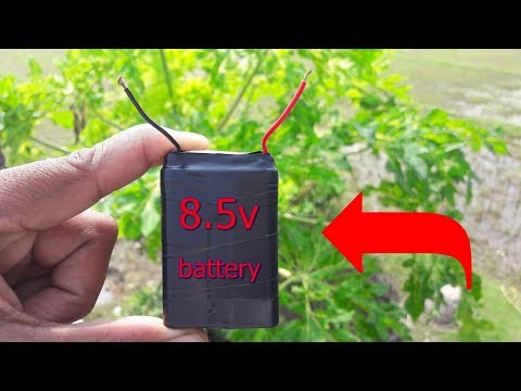 how to make 8volt battery, at home