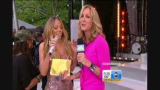 Mariah Carey Wardrobe Malfunction DRESS POPS OPEN on GMA Live HD