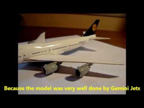 GEMINI JETS - B747-830 - LUFTHANSA - UNBOXING, REVIEW AND SCORE