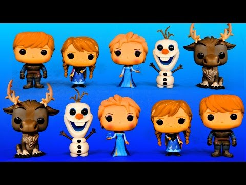 Frozen Funko Pop Complete Set Surprise Vinyl Toys Elsa Anna Olaf Sven Kristoff Figures
