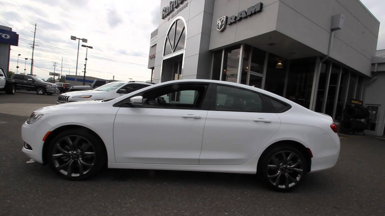 2015 Chrysler 200s White Fn516578 Mt Vernon Skagit Youtube