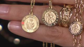 Vicenza Gold Saint Pendant with 18