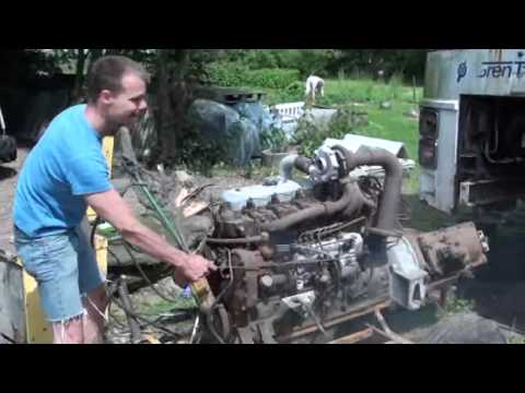 Volvo bus diesel engine TD70 1968 turbo B57