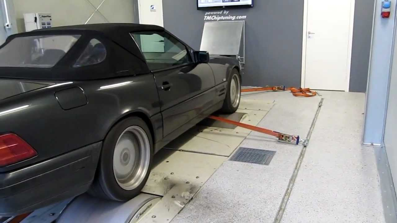 Mercedes W129 SL600 Dyno T.M.Chiptuning AB - YouTube