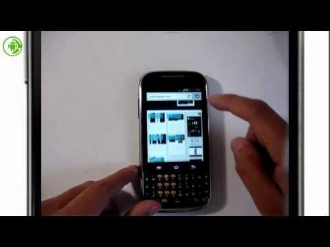 Samsung Ch@t GT-B5330L Android video Review [HD] Español