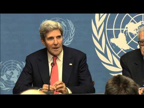 WorldLeadersTV: SYRIA: US's JOHN KERRY, RUSSIA's SERGEI LAVROV,  UN/ARAB LEAGUE's BRAHIMI, in GENEVA