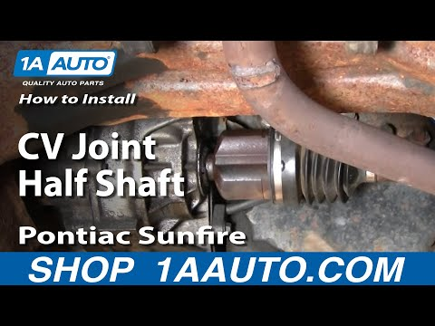 How To Install Replace Cavalier Sunfire CV Joint Half Shaft How To 95-05 1AAuto.