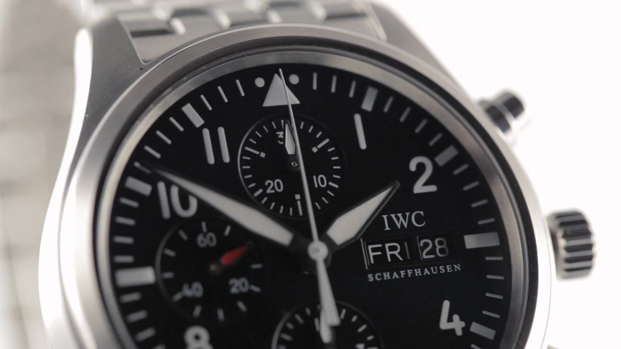 iwc schaffhausen chronograph automatic watch youtube. Black Bedroom Furniture Sets. Home Design Ideas