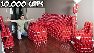 REPLACING OUR FURNITURE WITH 10,000 RED CUPS!!!