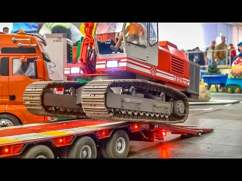 RC truck excavator heavy transport! Fantastic R/C models!