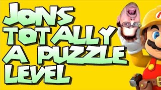 "Mario Maker - A 100% Authentic Genuine ""Puzzle"" Level by Jon (WHAT TREACHERY IS THIS?!)"