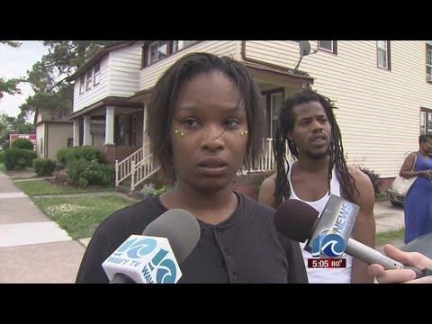 Reporter Anne McNamara speaks to suspect's girlfriend in police-involved shooting