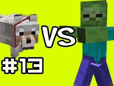 Minecraft Solo: 1000 ZOMBIES! vs 200 Wolves  w/ Nova Ep.13 (Singleplayer Survival) Music Videos