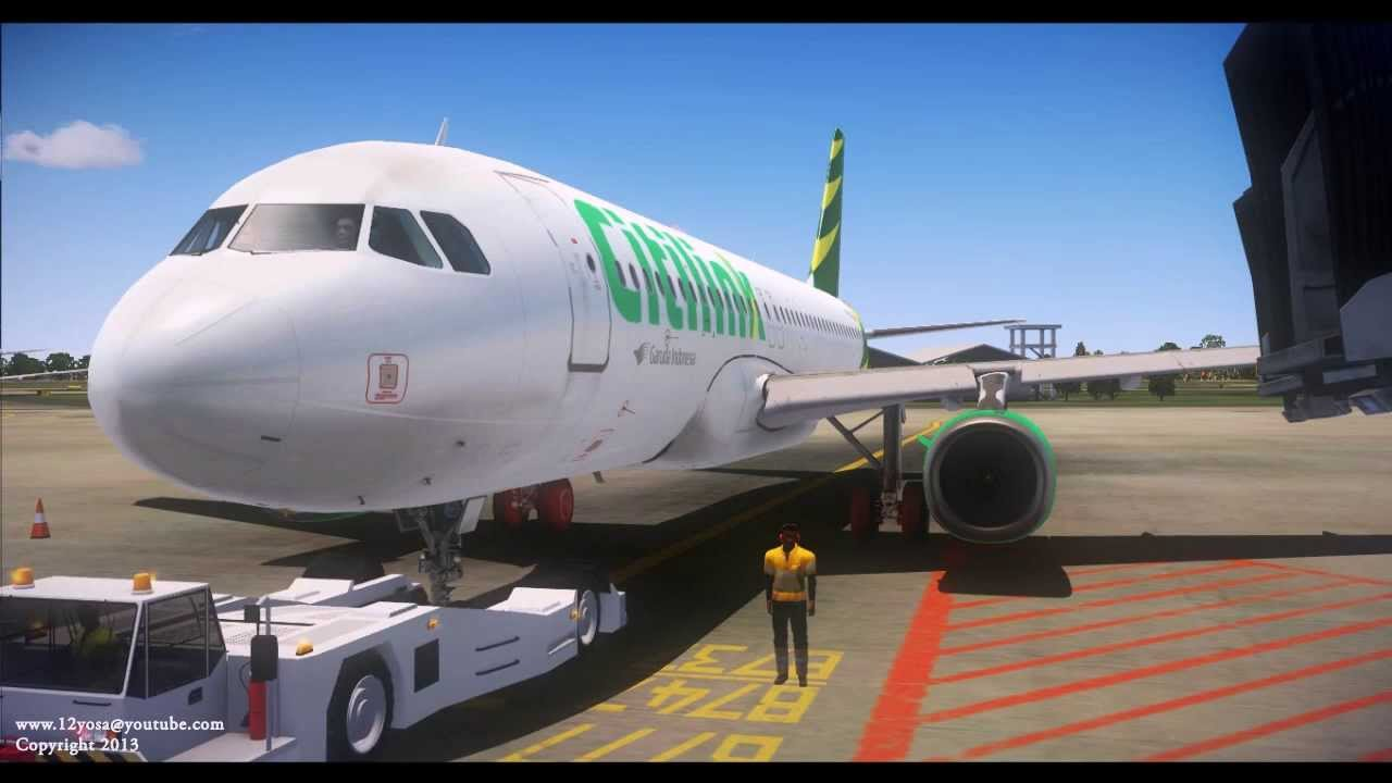 FSX Aerosoft Airbus X Garuda Indonesia Citylink - YouTube