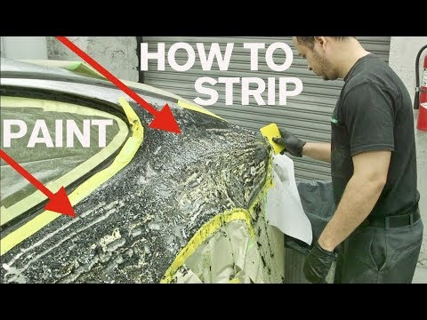 How to Strip Paint: WARNING this is hard to watch!