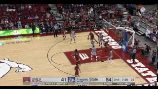 Troy Baxter Dunk vs Fresno State