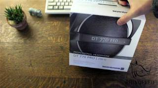 Beyer Dynamic DT770-Pro Headphones Unboxing