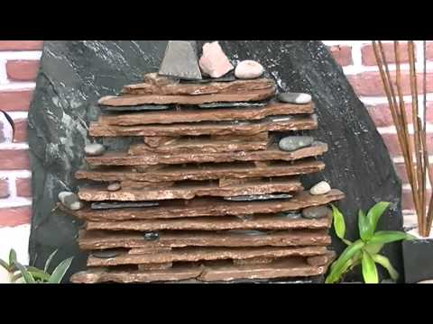 Fuente de agua cascada de pared armon a estilo youtube for Cascada de agua para jardin