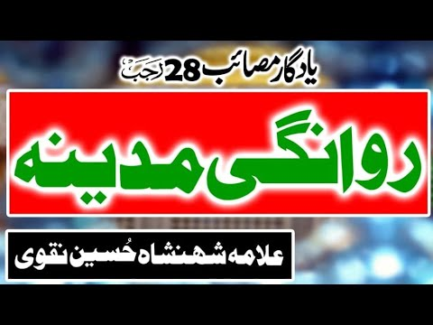 Allama Syed Shahenshah Hussain Naqvi I YadGar Majlis 28 Rajab 2019 I Masiab Rawangi Madina