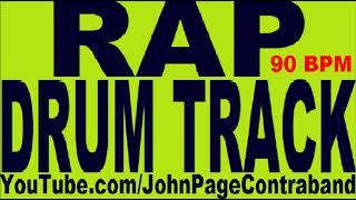 Rap Hip Hop Drum Track 90 bpm Drums Only FREE