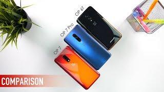 OnePlus 7 vs OnePlus 7 Pro vs OnePlus 6T: FULL Comparison! | PUBG | Camera Test [Hindi]
