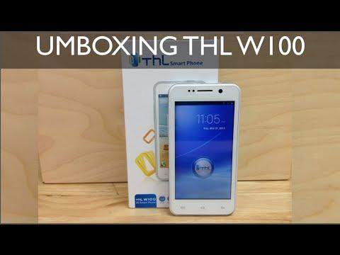 Unboxing THL W100 - Celular inteligente Chino