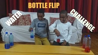 Water Bottle Flip Challenge - Kez vs Kiki | K-Boyz TV