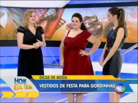 Vestidos de festa plus size - Renata Poskus Vaz - Hoje em Dia - Rede Record