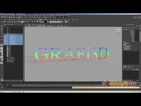 Grafi3D Autodesk maya ncloth  ile metin animasyonu