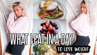 WHAT I EAT IN A DAY TO LOSE WEIGHT *REALISTIC* | Meal Prep and Healthy Meal Ideas