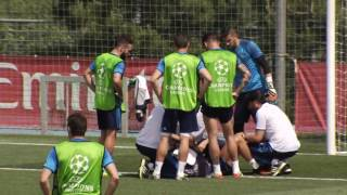 Ronaldo injured in training collision