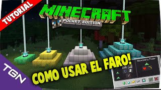 ¡Cómo Usar Un Faro! - Minecraft Pocket Edition 0.16.0 - Tutorial Español
