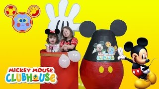 Disney Junior Videos SUPER GIANT SURPRISE EGG OPENING Mickey Mouse Clubhouse + Minnie TOYS