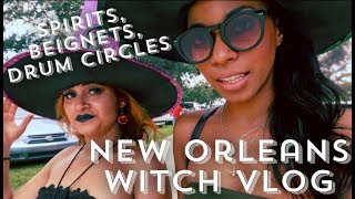 NEW ORLEANS WITCH VLOG - SPIRIT POSSESSION, DRUM CIRCLES, FESTIVALS, BEIGNET MUKBANG ||  BEHATILIFE