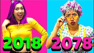 2018 vs. 2078 - 60 Years Later!!! So Funny! (CC Available)