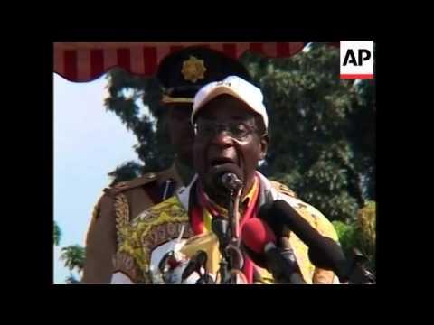 Thousands hear Mugabe speak at Zanu-PF election rally