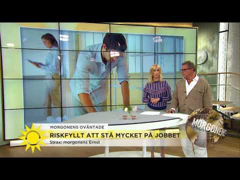 Riskfyllt att stå för mycket på jobbet - Nyhetsmorgon (TV4)